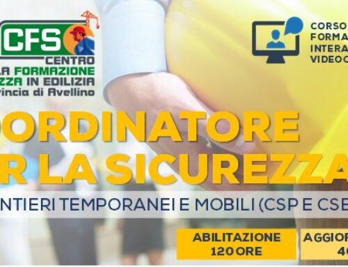 Corso Coordinatore per la Sicurezza nei cantieri CSP/CSE. 120 ore